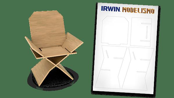 projeto de cadeira DIY